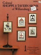 Colonial Shoppe And Tavern Signs Cross Stitch Leaflet-2-oop-tidewater Originals