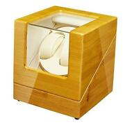 Watch Winder Box For Automatic Watches With Quiet Japanese Mabuchi Motor
