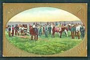 Hand Colored And Embossed Cowboy Postcard - Posted 1909 - Divided Back