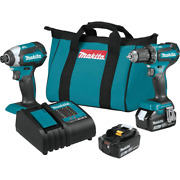 Makita Drill/impact Driver 18-volt Lithium-ion Keyless Chuck Battery/charger