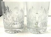 Pair Waterford Crystal Millennium Collection Double Old Fashions Health Glasses