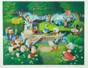 Surprise Party At Memory Pond By Carl Barks With Donald Duck And Friends