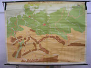 Schulwandkarte Wall Map Germany With Borders 1937 Canvas 82 5/16x63in