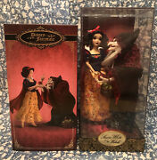 New Disney Store Fairytale Designer Snow White And Old Hag Witch Doll Set Limited