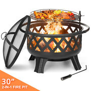 Fire Pit Wood Heater Backyard Burning Patio Deck Stove Fireplace Barbecue Garden