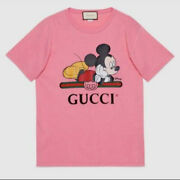 X Disney Mickey Oversized T-shirt Pink Size L Genuine From Japan New