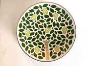 Kate Spade Lenox Holiday Set/4 Appetizer Party Plates Pear Tree Point Christmas