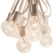 G40 Clear Globe String Lights - White Wire - For Tents, Weddings, Party, Cafes