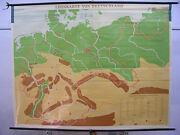 Schulwandkarte Wall Map Germany With Borders 1937 Canvas 81 1/2x63 3/8in