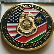 Badge Challenge Coin Police Military Embassy Fbi Diplomatic Security Namibia Rso