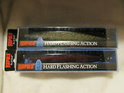 Rapala - Lot Of 2 - Flr-16 - Flat Rap 16 - Red Pike And Silver Pike