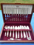 1847 Rogers Bros Eternally Yours Is Silverware 73 Pieces In Wooden Chest