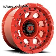 20 X10 Candy Red Xd861 Storm Kmc Wheels Fits Lifted Ford F150 Raptor 6x135 -18