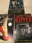 Books Lot Of 3 Horror Science Fiction,jack The Ripper,bane Chronicles And Cinder