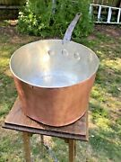 Antique D H And M Co Ny 10 Copper Sauce Pan Pot 2.6mm Recently Retinned