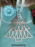 """Tiffanyandco Christmas Tree Ornament Sterling Silver Holiday Pouch 1998 Vtg 3.5"""""""