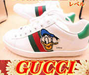 X Disney Donald Duck Women's Sneakers Size36 Us6 White Leather Inbox Used