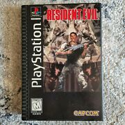 Resident Evil Sony Playstation 1 Ps1 Long Box W/ Disc Manual And Registration Card