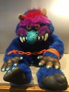 """My Pet Monster Vintage 1986 Large Amtoy 24"""" With Handcuffs Lovely Condition"""