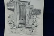 Therlee Gipson Signed Print The Outhouse - Coa Embossed Stamp - 8x10