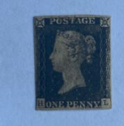 1840 Penny Black Sg1 Mint Hinged Black Small Crown