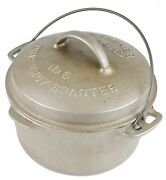 Vintage Plated Wagner Ware No 6 1266 Cast Iron Dutch Oven Excel Seasoned Cond