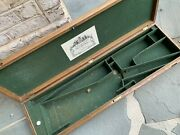 Antique English Sporting Rifle Fitted Box With Mfg Label