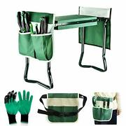 Garden Kneeler And Seat Upgraded Sturdy Garden Folding Bench Green Color