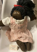 1980 Cabbage Patch Kids Little People Soft Sculpture African American Signed
