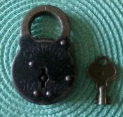 Antique Yale Century Six Lever Pad Lock With Key