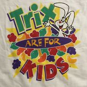 Vintage Trix T Shirt Scratch And Sniff Snack Food Promo Sz Large Nwt