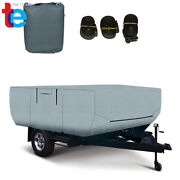 14-16 Ft Trailers Waterproof Rv Trailer Cover For Folding Pop Up Camper