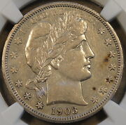 1903-o Barber Half Dollar 50c Ngc Certified Xf45 Au But Netted For Obv. Spots