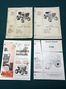 Lot Of 3 Sears Lawn Garden Tractor Mower Owner And Parts Manual And Plow Manual