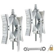 Recpro Rv Camper Wheel Tire Chock | Stabilizer Jack With Crank Handle | 2 Sets