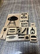 Stampin Up Rubber Stamps Backyard Bbq Grill Corn Burger Hotdog Let's Eat Ts11