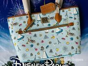 2021 Disney Parks Food And Wine Festival Dooney And Bourke Belle Tote Purse Exact C