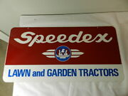 Vintage Advertising Sign- Speedex Lawn And Garden Tractors Sign- 2 Sided- A-m Sign