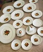 Wedgwood English Harvest Fine China 19 Pieces Dinnerware Replacement Vintage