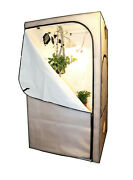 Hydroponic Grow Tent 4'x4'x7' Indoor White Reflective Hydro Growing Room