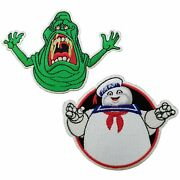 Ghostbusters Slimer And Stay Puft Marshmallow Man Patches Sdcc Exclusive