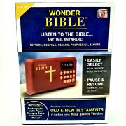 Wonder Bible Kjv, New Audio Player Listen To Ot And Nt Testaments As Seen On Tv