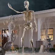 Home Depot Accents Halloween 12 Ft Giant Sized Skeleton W/ Lifeeyes Lcd Eyes Nib
