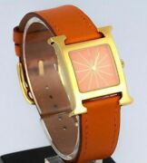 Hermandegraves Heure H Orange Hh1.210 Ladyand039s Rare Mint Condition