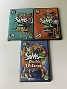 Sims 2 Double Deluxe + Open For Business + Bon Voyage Lot Pc Windows Complete
