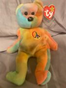 Ty 1996 Beanie Baby Peace Style 4053 Great Condition