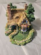 Cherished Teddies Village Sculpture Collection Picnic For Two Cottage H5