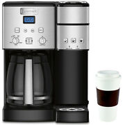 Cuisinart 12-cup Coffee Maker And Single-serve Brewer Ss-15 W/16 Oz Reusable M