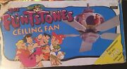 Flintstones Movie 1996 Ceiling Fan Fred Wilma Dino Collectible Rare New Open Box