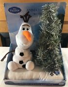 Disney Frozen Olaf Animated Softie With Tree Plush Interactive Toys New